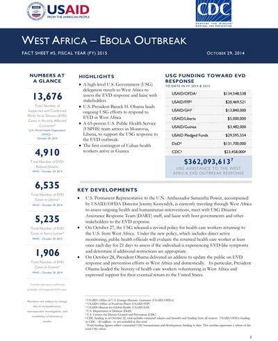 West Africa - Ebola Outbreak - Fact Sheet #5 (FY 15) | U.S. Agency ...