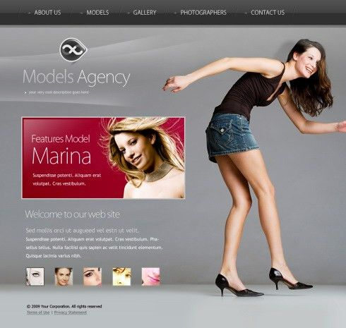 Models Agency XHTML Template - 5626 - Beauty & Fashion - Website ...