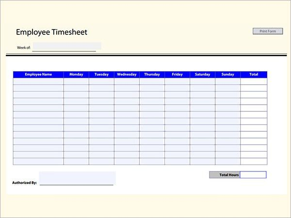 Employee Timesheet Calculator. Timesheet Calculator, Time Card ...