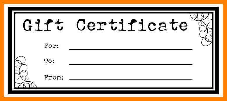 8+ gift certificate template pages | packaging clerks