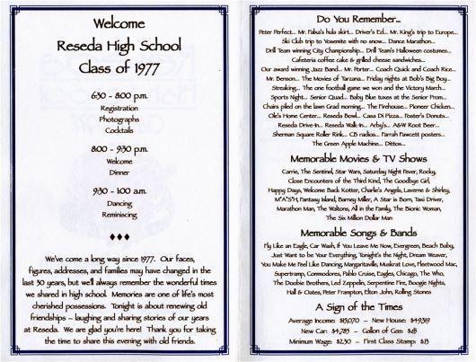 30th REUNION PROGRAM | Class reunion ideas, Reunion decorations ...