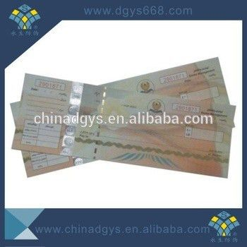 Custom Security Thread Paper Coupon With Hologram - Buy Custom ...