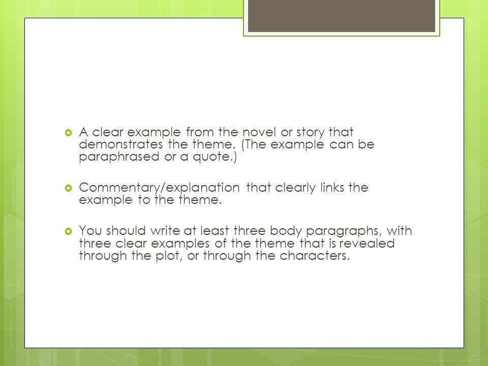 Response to literature essay: Theme Analysis - ppt video online ...