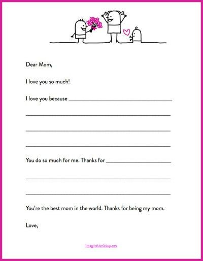 Here's a Quick Mother's Day Printable Letter Template ...