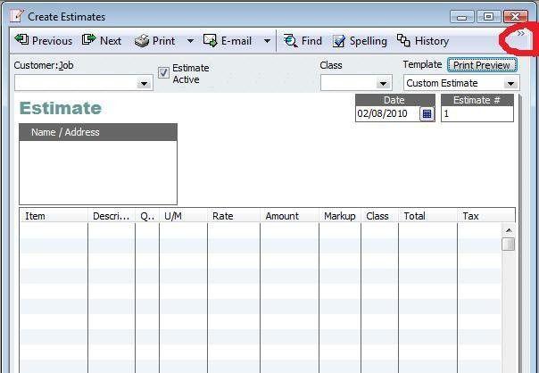 Quickbooks Estimate Template | Template Design