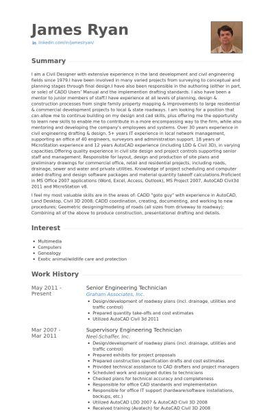 Engineering Technician Resume samples - VisualCV resume samples ...