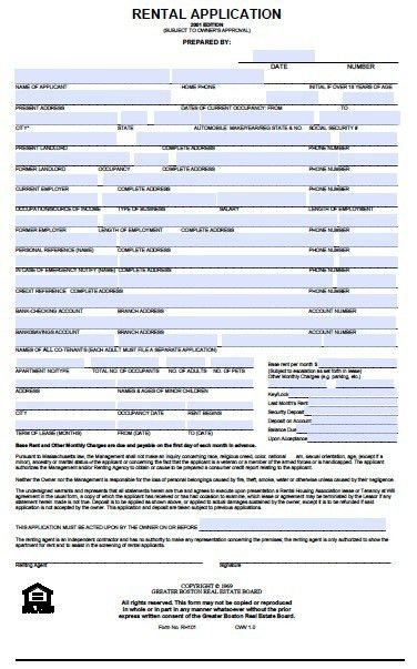 Apartment Application Form. 2 Hard To Get An Apartment So You Want ...