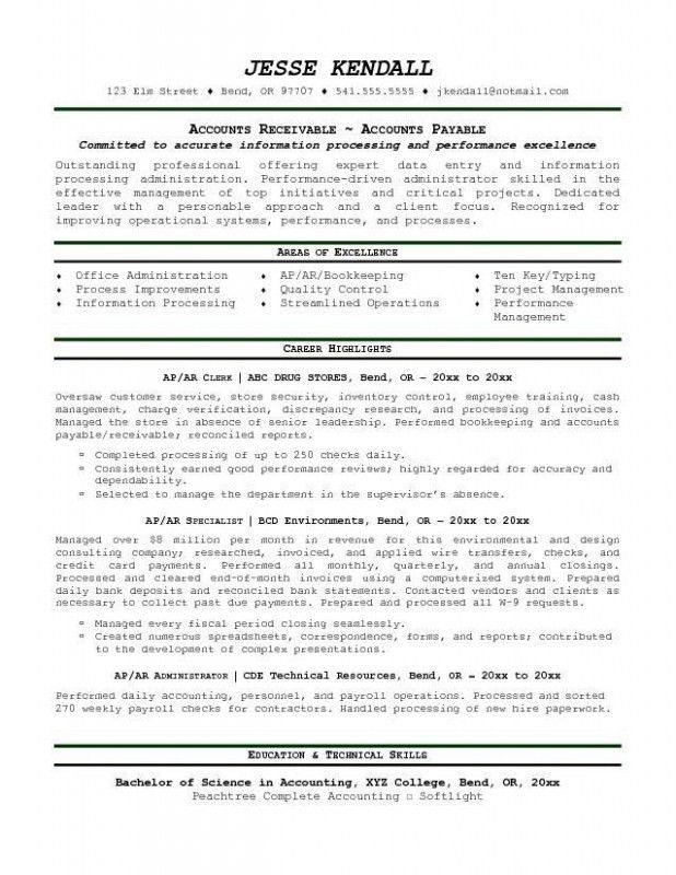Bookkeeper Duties And Responsibilities Resume – Resume Examples