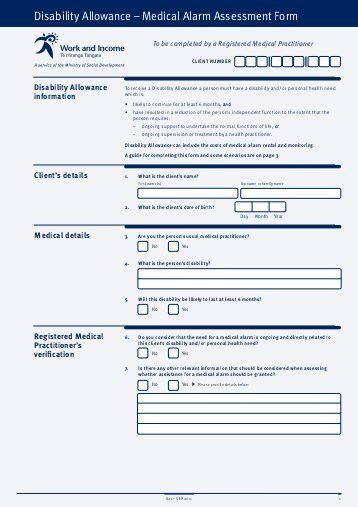 Civilian Amputee Assistance Application Form - Work and Income