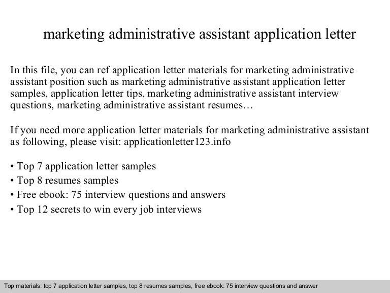 marketing administrative assistant interview thank you letter in ...