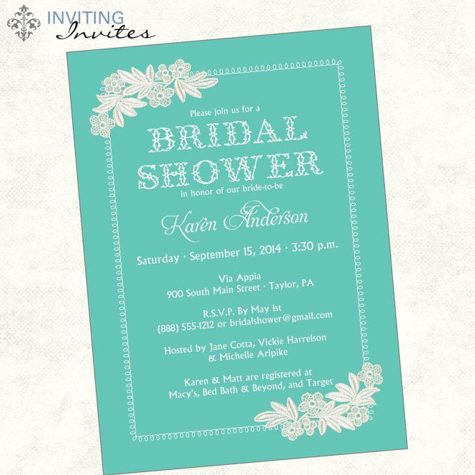 Invitation Wording For Wedding Shower - Wedding Invitation Sample