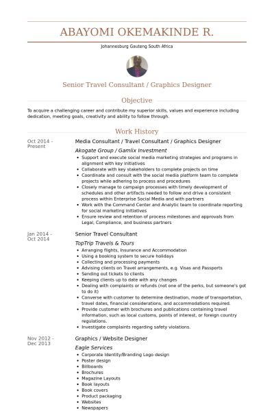 second page booking agent resume for write work experience format ...