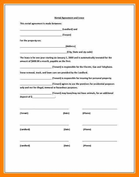 6+ printable lease rental agreement | commerce invoice