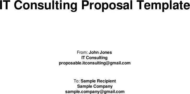 It Consulting Proposal Template | Blank.csat.co