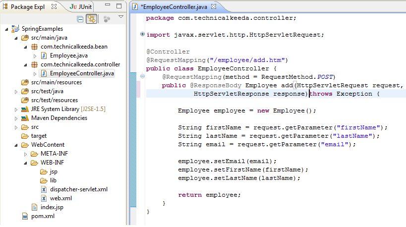 Spring ajax jquery example + Spring Framework + Jquery Ajax ...