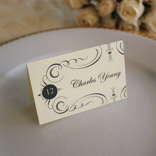 DIY Place Card Template - Free Printable