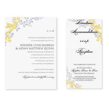 Pocket Wedding Invitation Template Set - Download Instantly ...