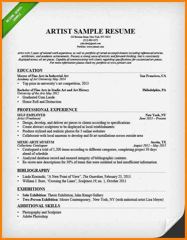 Beautiful Art Resumes Pictures - Simple resume Office Templates ...