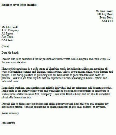 apprenticeship cover letter sample