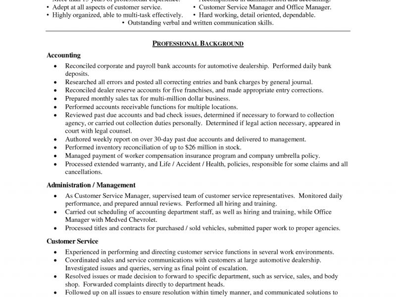 Bold Design Resume Objective Examples Customer Service 8 Good ...
