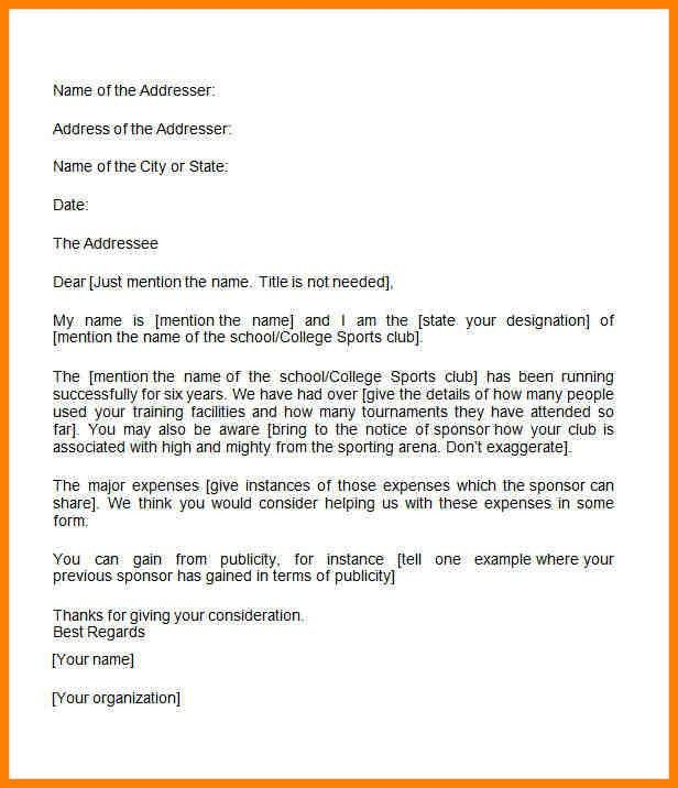 7+ format for sponsorship letter | resume language