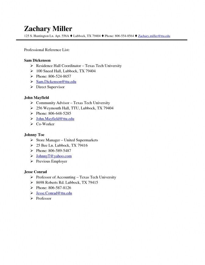 resume sample references resume references list example resume ...