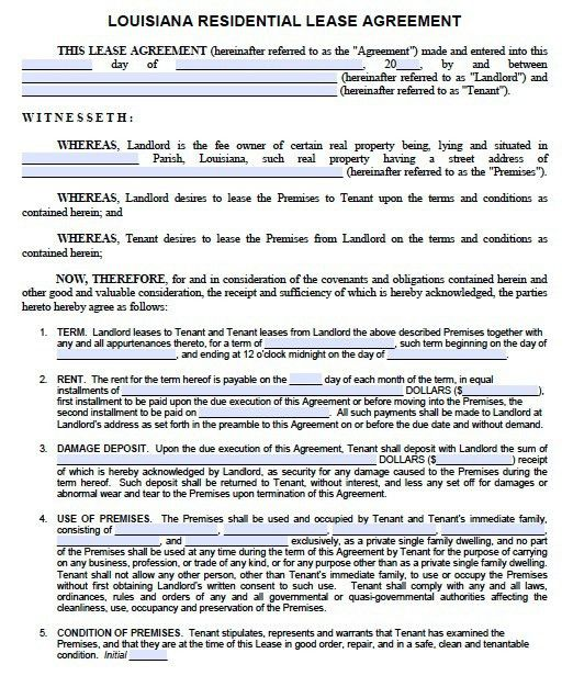 Lease Agreement Form Pdf. Michigan-Residential-Lease Free Michigan ...