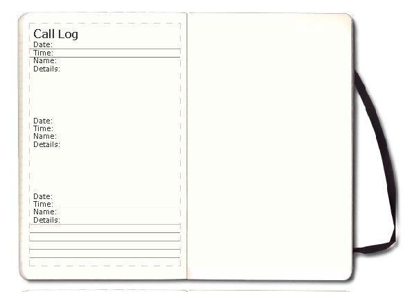 Call Log template - myMoleskine Community