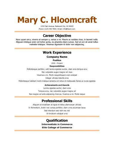 461 best Resume Templates and Samples images on Pinterest   Resume ...