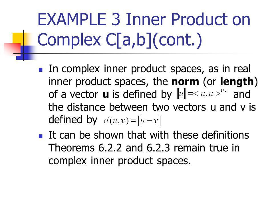10.4 Complex Vector Spaces. - ppt video online download