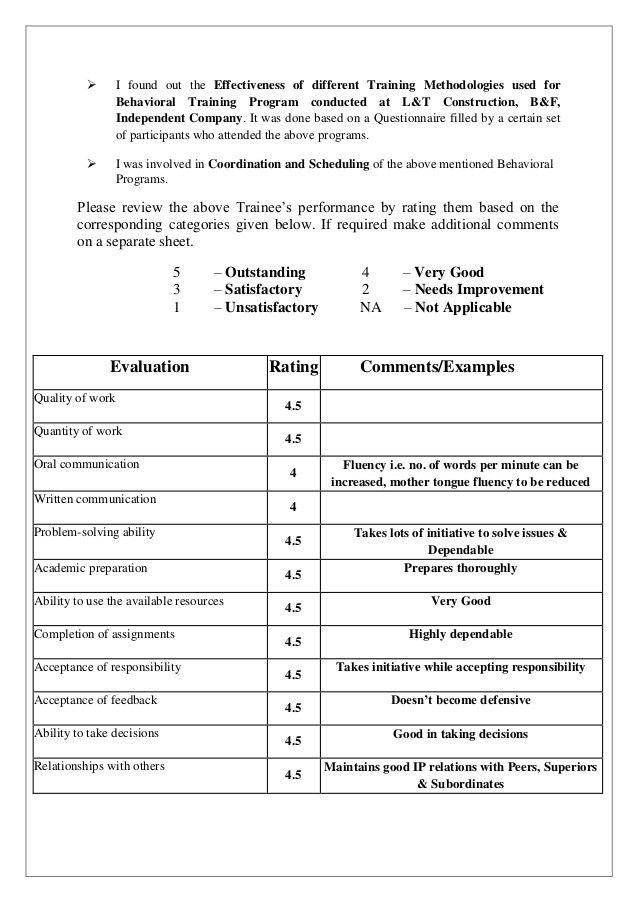 Vishnu Lt Evaluation Form Final