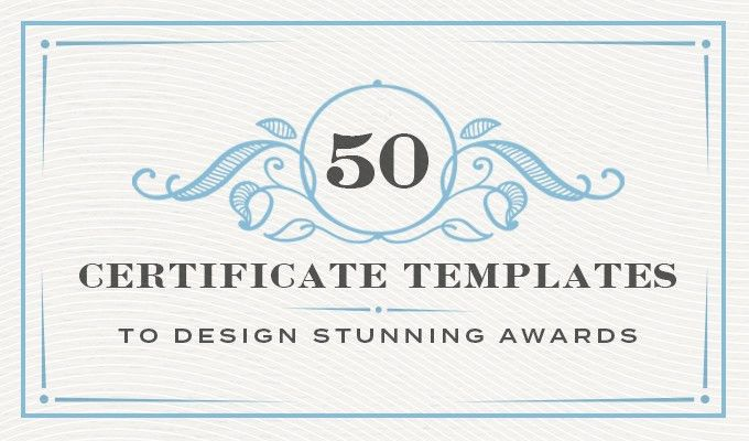 50 Certificate Templates to Design Stunning Awards ~ Creative ...