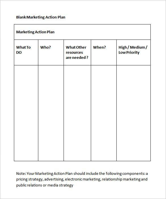 Marketing Action Plan Template – 5+ Free Word, Excel, PDF Format ...