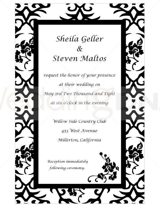 Formal Invitation Template Free