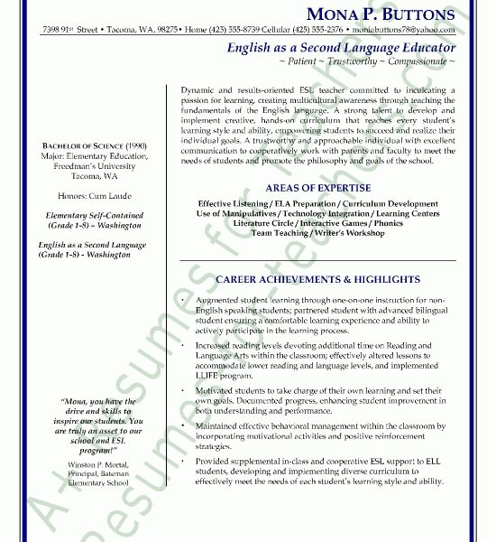 Download Cover Letter Esl Teacher | haadyaooverbayresort.com
