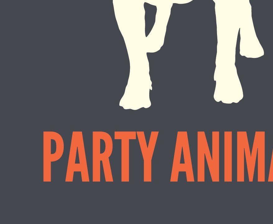 Party Animal, Dog Print, Dog Art, Dog Poster, Pet Print, Pet Art ...