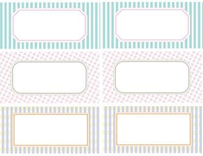 Free Printable Label Templates | ... calling those striped tiffany ...