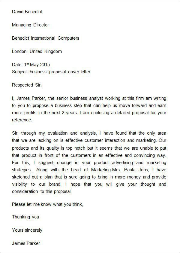 Partnership Proposal Letterss. If You Are Writing A Proposal,; 3 ...