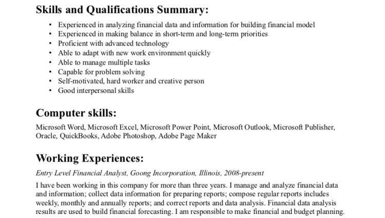 Entry Level financial Data Analyst Resume Sample - Writing Resume ...