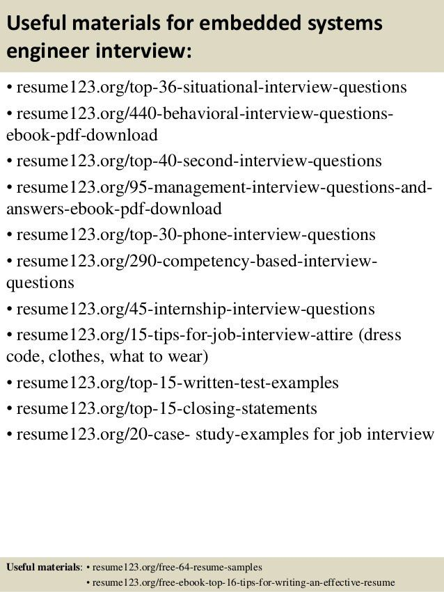 Top 8 embedded systems engineer resume samples