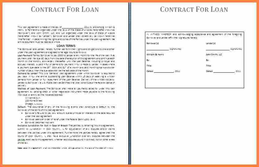 8+ loan agreement template between family members | Purchase ...