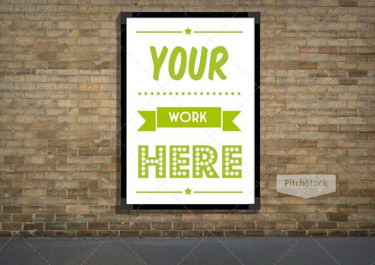 Outdoor advertising poster photoshop template | OutDoor And Indoor ...
