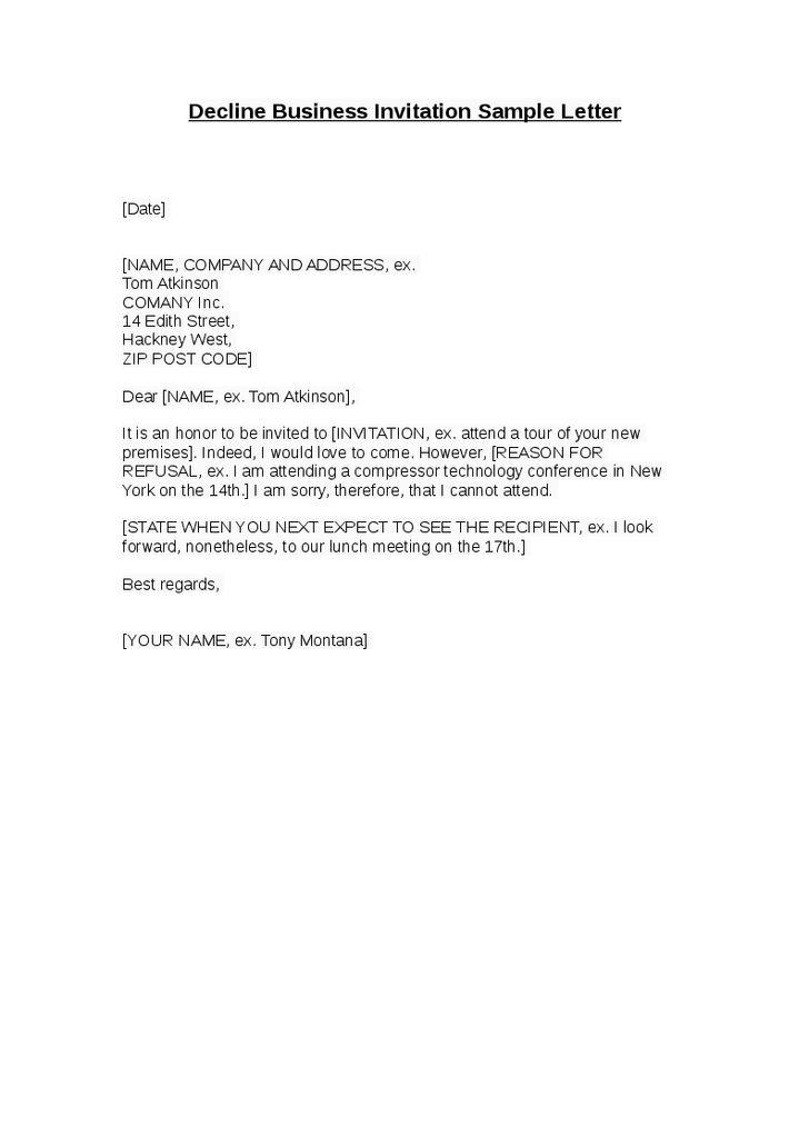 Invitation Rejection Template | http://webdesign14.com/
