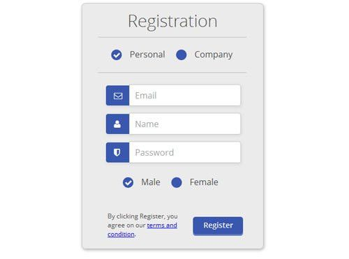 40+ Beautiful CSS Sign up & Registration Form - freshDesignweb