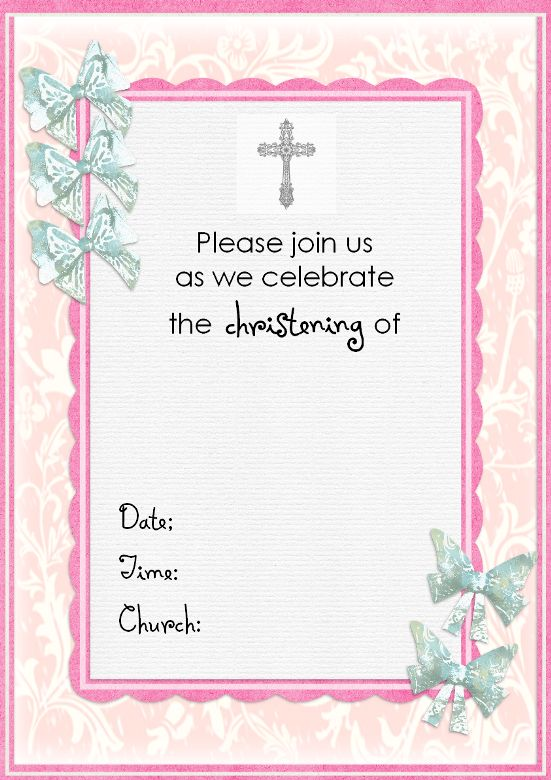 Baptismal Invitation Template | Best Template Collection