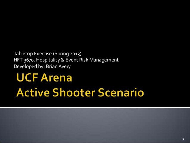 College Campus Active Shooter Tabletop Exercise