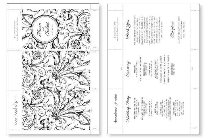 Printable Wedding Ceremony Program