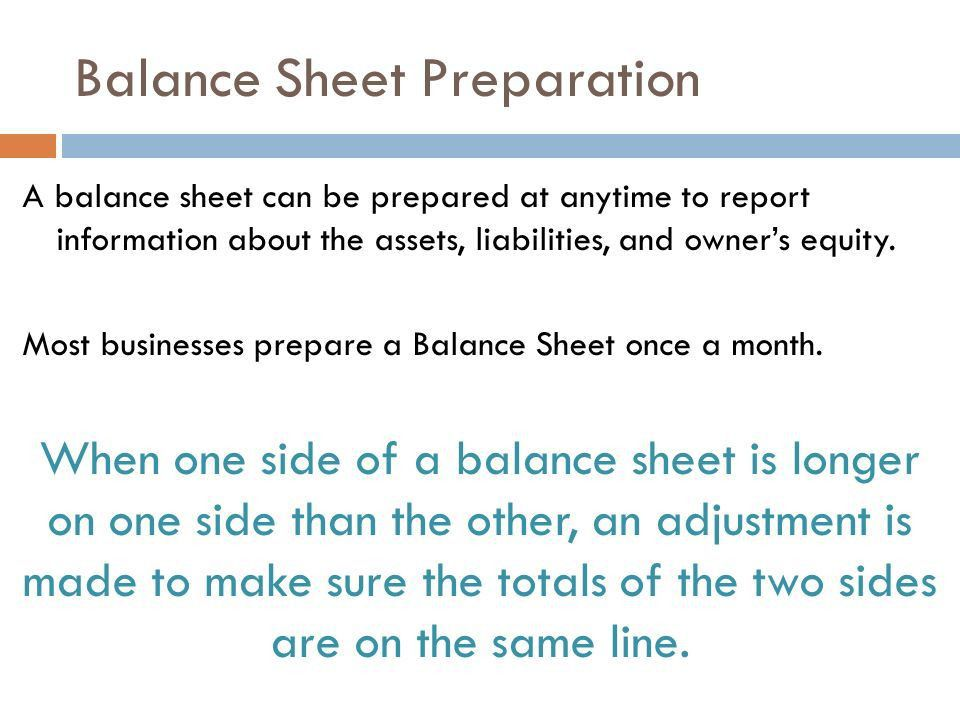 REPORTING A CHANGED ACCOUNTING EQUATION ON A BALANCE SHEET. - ppt ...