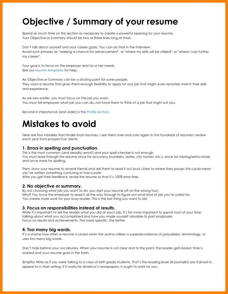 Fresh Inspiration Resume Summary Statement Example 4 10 Resume ...