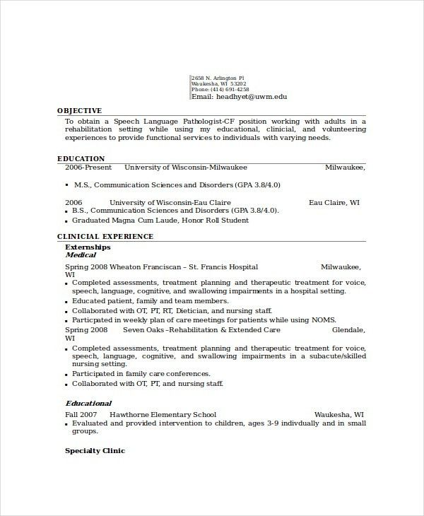 Pathologist Resume Template - 6+ Free Word, PDF Documents Download ...